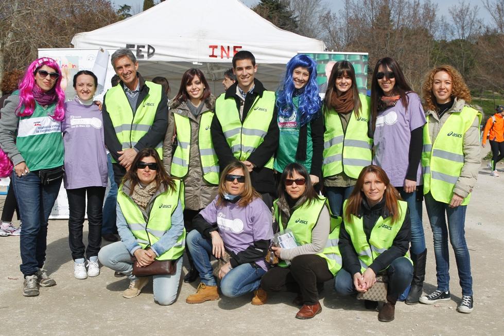 Los integrantes de Ortoface con los miembros de FEDER